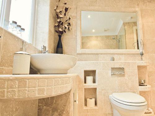 Kamień naturalny w łazience