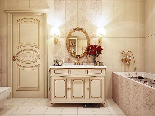 Oświetlenie w łazience w stylu klasycznym